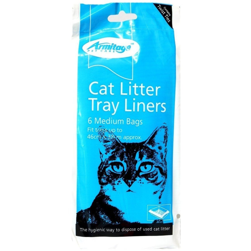 Armitage - Cat Litter Tray Liners Medium 6 Per Pack - 46cm x 38cm