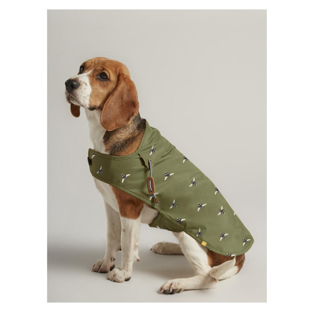 Joules Olive Bee Water Resistant Dog Coat