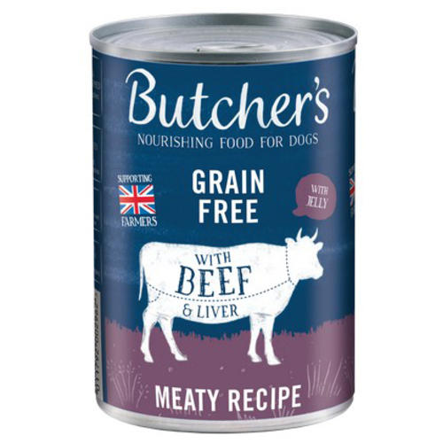 Butchers With Beef & Liver In Jelly Can Grain Free 400g