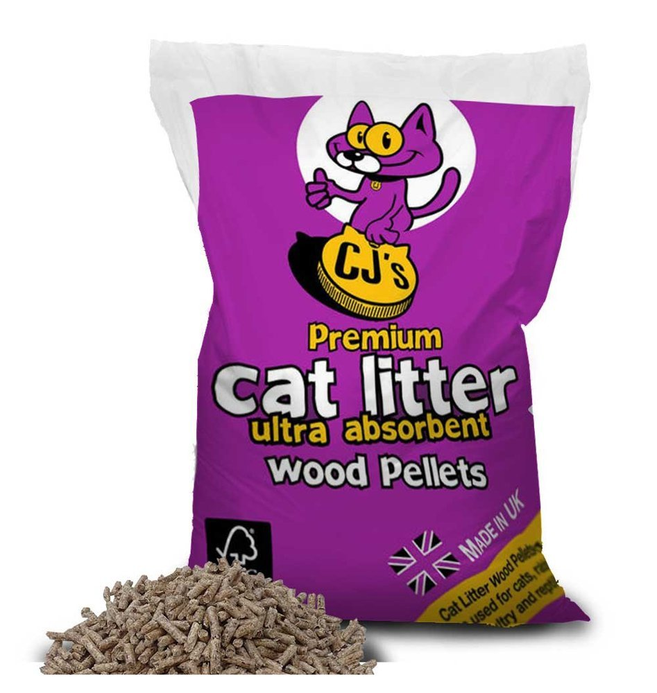 CJ's Ultra Absorbant Wood Pellet Premium Cat Litter