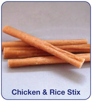 Burns Stix 4pk - Chicken & Rice, Petaroni, Lamb & Rice, Meat & Tripe, Beef
