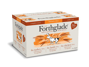 Forthglade Complete GRAIN FREE Adult Poultry Multipack 12 x 395g turkey, lamb, chicken