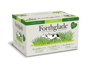 Forthglade Complete GRAIN FREE Adult Poultry Multipack 12 x 395g turkey, lamb, duck