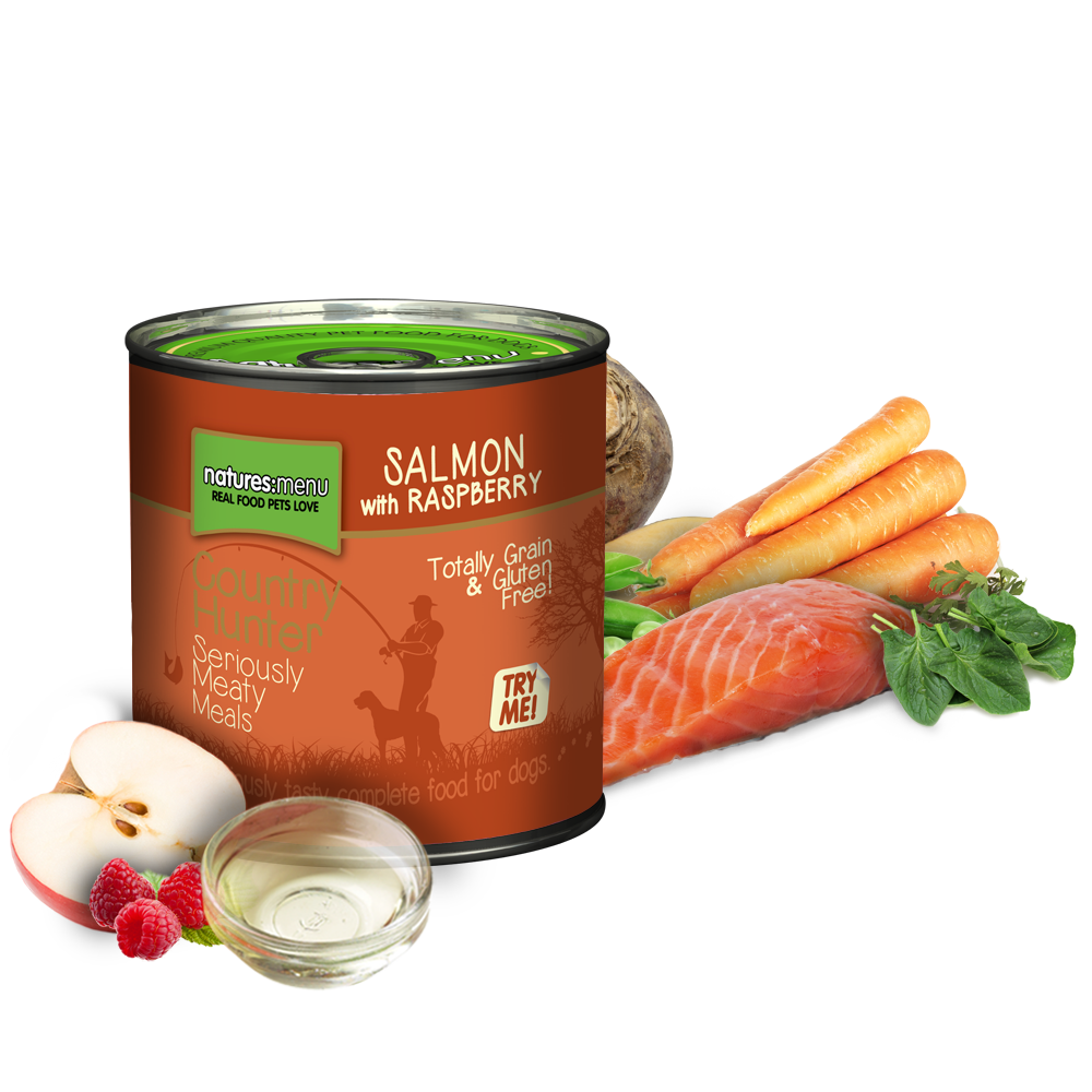 Natures Menu Country Hunter Salmon & Raspberry Dog Can 600g