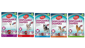 Simple Solution Disposable Dog Nappy Incontinence Travel Diaper (12s)