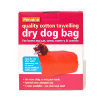 Pennine Quality Cotton Towelling Dry Dog Bag