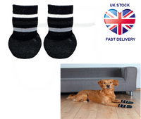 Trixie Non-Slip Dog Socks With All-Round Rubber Coating 2Pk, Black