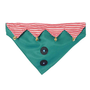 Rosewood Party On Christmas Dog Elf Bandana Neckerchief M/L