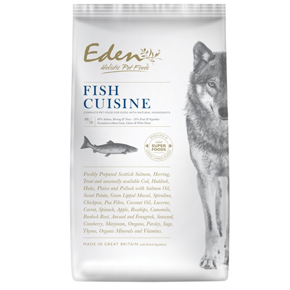 Eden Dog 80/20 Fish Cuisine: Catch Of The Day Small Kibble 2kg