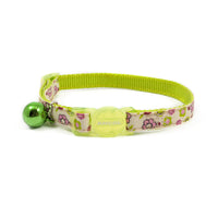 Ancol Flower Safety Cat Collar Lime