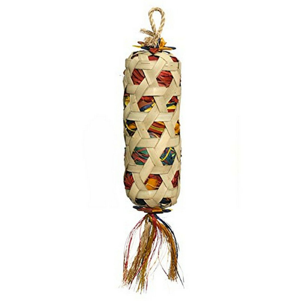 Boredom Breaker Woven Wonders Foraging Cylinder Bird Toy, Large