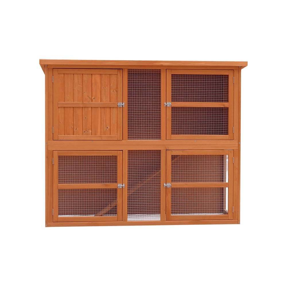 Harrisons Grasmere Double Height Hutch Natural (5ft) 150x60x120cm