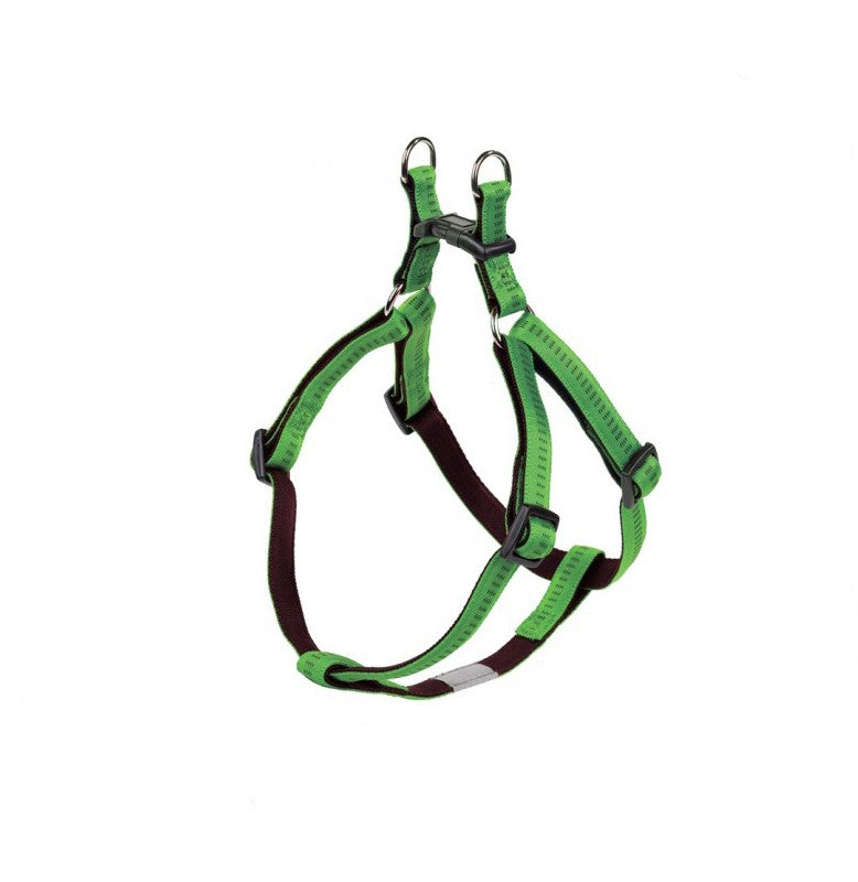Nobby Soft Grip Green Dog Harness 10mm X 30-40cm, XS/S