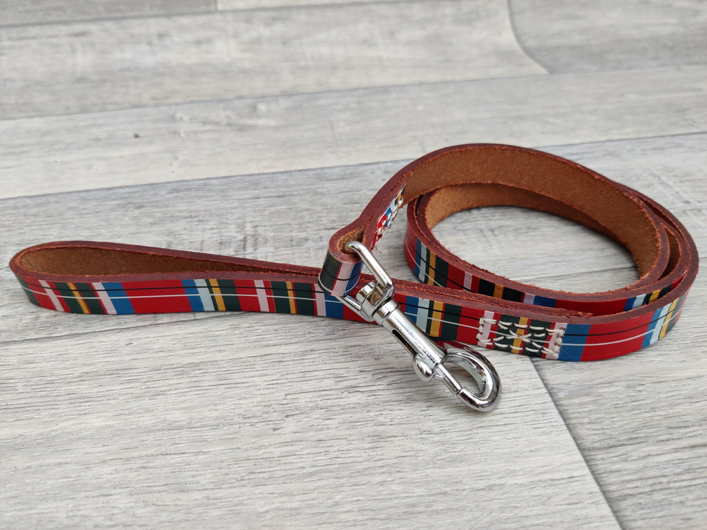 "Ancol Tartan Leather Lead 1.6x100cm / 40""x5/8"""