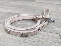 Ancol Leather Lead Pink with Bone 100cm x 12mm