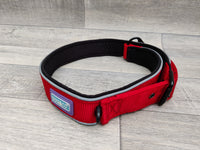 "Hemmo & Co Padded Reflective Collar Red 1.25"" x 24-30"""