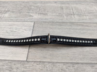Ferplast Luxury Diamante Dog Collar Black 28cm