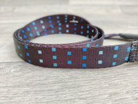 "Hem & Boo Padded Dog Lead Skye Black & Blue 3/4"" x 48"""