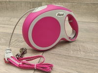 New Flexi Vario Medium Cord Dog Lead Pink 8m Max 20kg