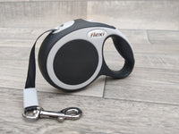 Flexi New Vario Tape Anthracite Black Retracable Dog Lead XS - 3m