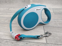 New Flexi Vario Tape Dog Lead Turquoise Small 5m Max 15kg