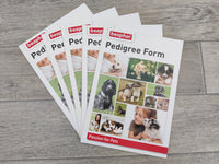 5 Pack Blank Dog Puppy Pedigree Breeder Certificate Forms
