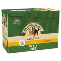 James Wellbeloved Adult Cat Lamb Pouch Grain Free 12 X 85g
