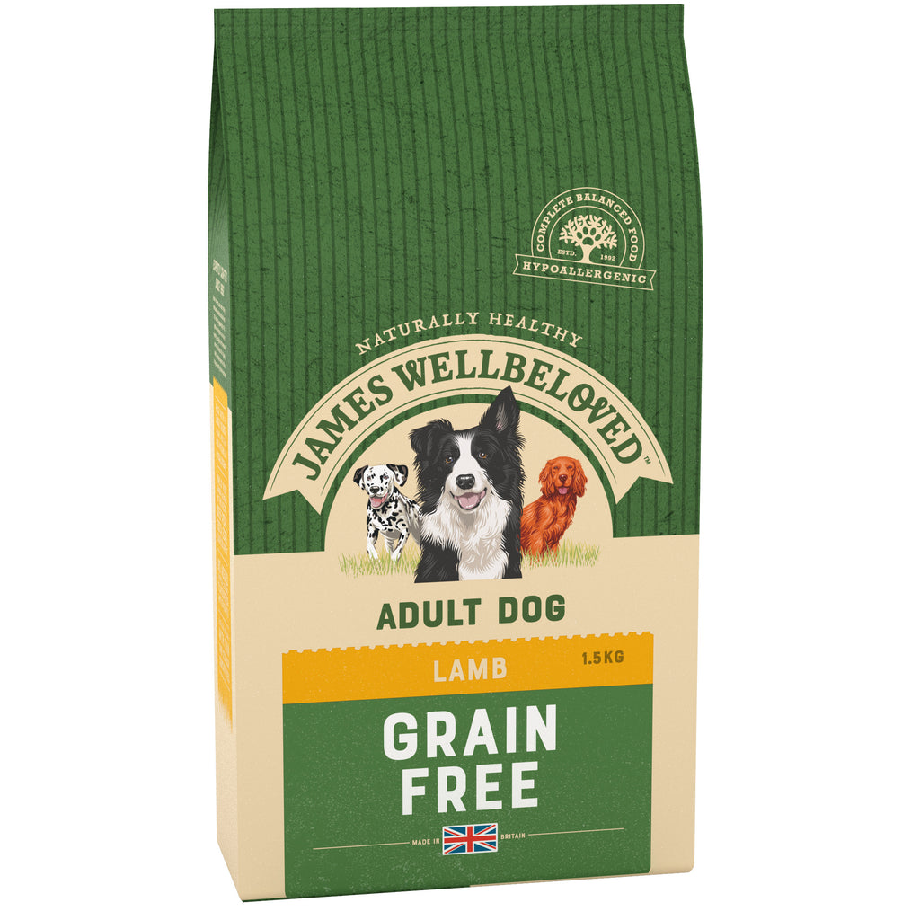 James Wellbeloved Dog Grain Free Lamb & Veg Adult 1.5KG