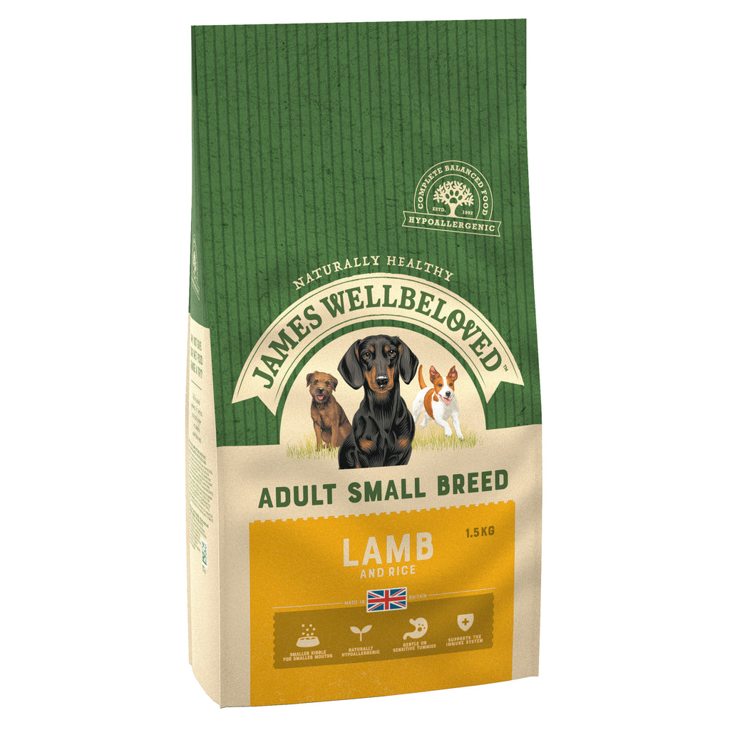 James Wellbeloved Dog Lamb & Rice Small Breed Adult 1.5KG