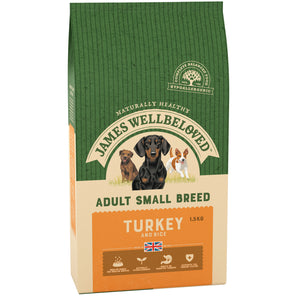 James Wellbeloved Dog Turkey & Rice Small Breed 1.5KG
