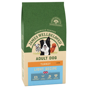 James Wellbeloved Dog Turkey And Rice Light Kibble 1.5kg