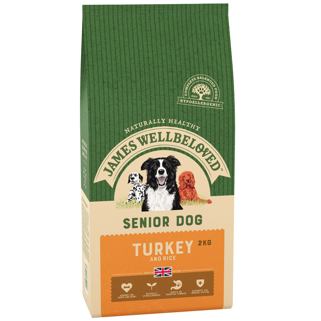 James Wellbeloved Dog Turkey & Rice Senior 2KG