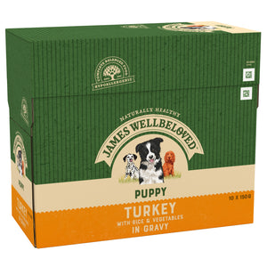 James Wellbeloved Puppy Turkey & Rice In Gravy 10X 150G