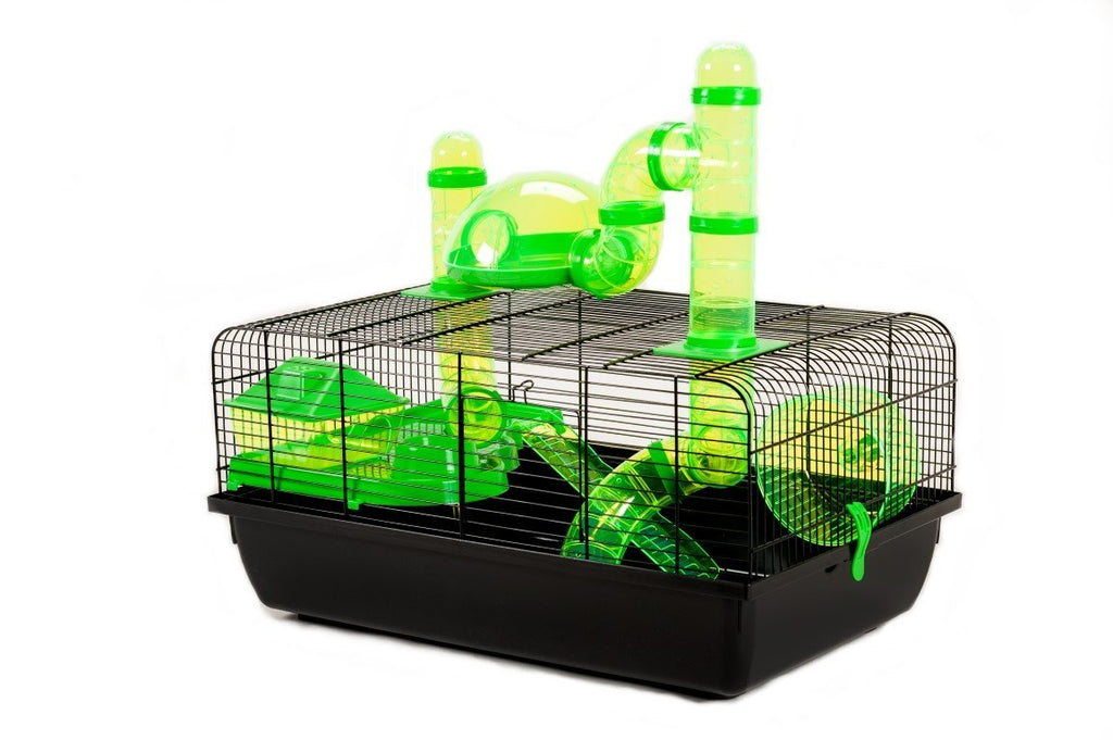 Little Friends Landmark Animal Cage with Accessories, Small, 58 x 38 x 29 cm, Green