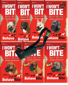 No Bite Bark Mikki Soft Nylon Dog Muzzle