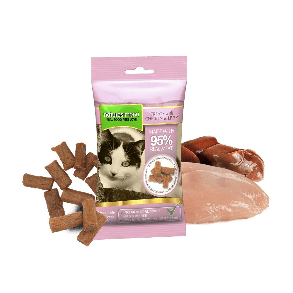 Natures Menu Cat Treats Chicken And Liver 60g