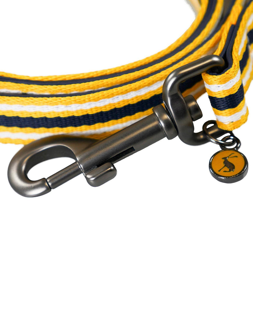 Joules Navy Striped Dog Lead