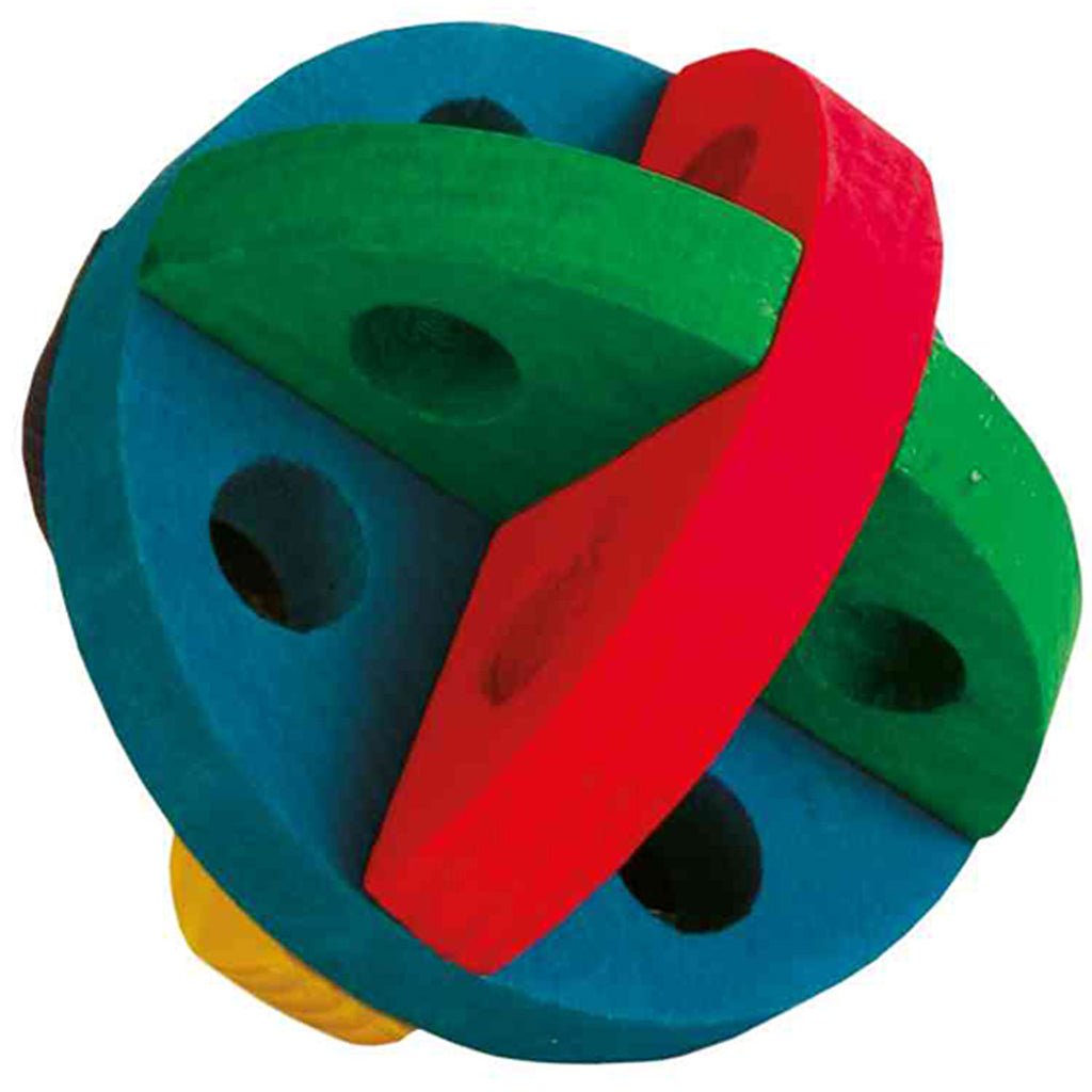 Trixie Play And Snack Ball, Wooden ø 8 Cm