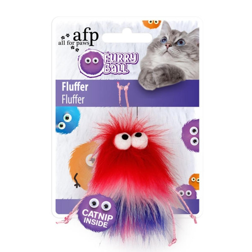 All For Paws Fluffer Ball Red