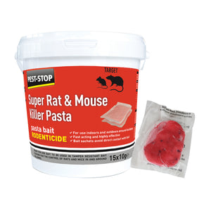 Pest Stop Super Mouse And Rat Killer Sachets Pasta Bait (15 X 10g)