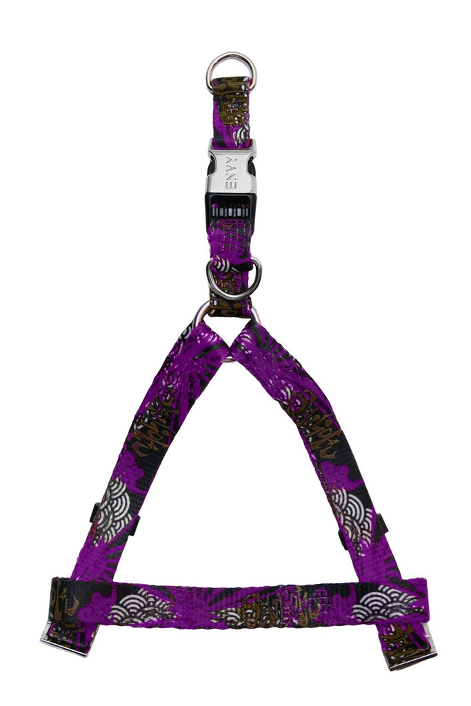 ENVY Sengoku Designer Dog Harness Purple 46-75cm X 20mm