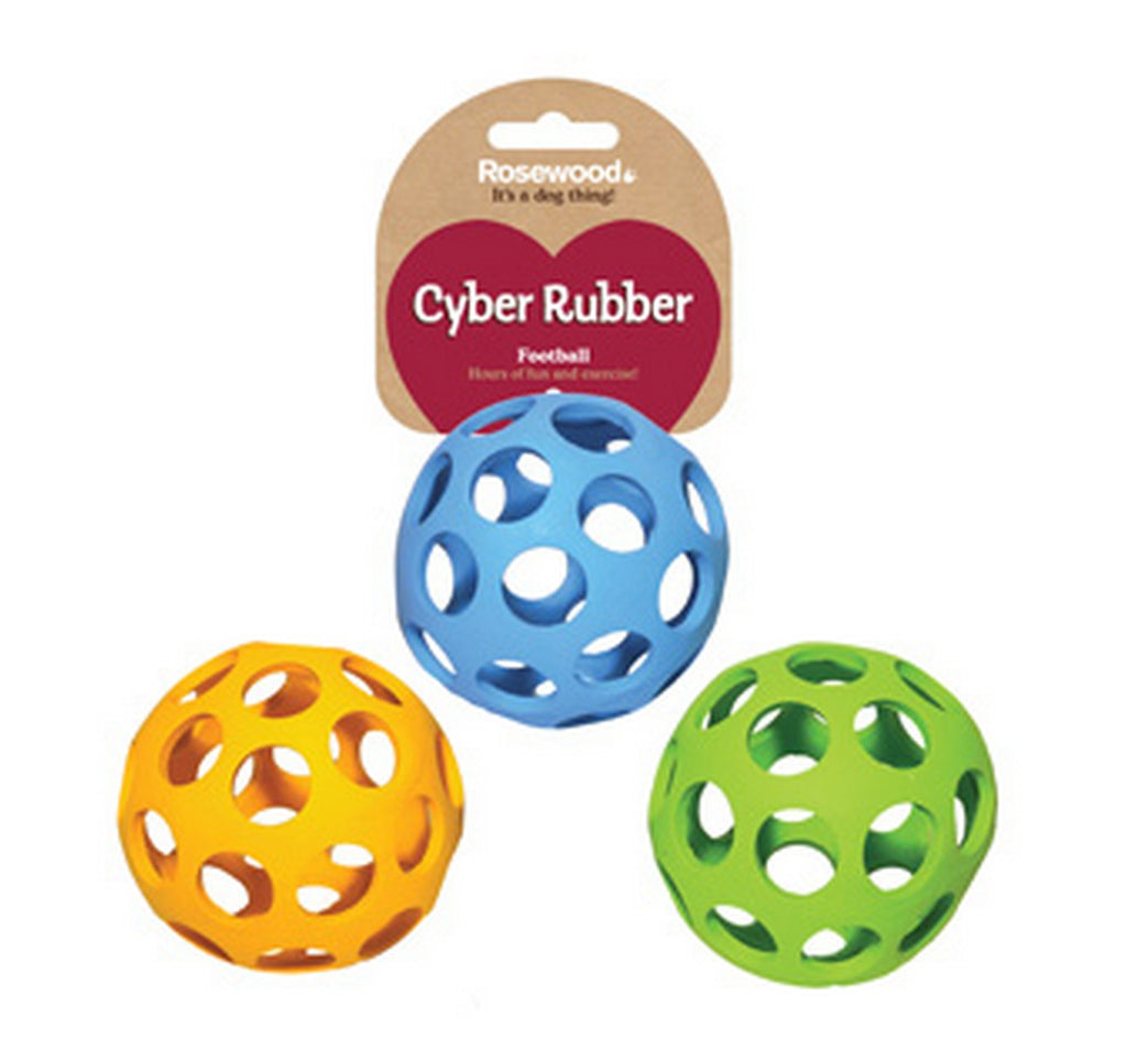 Rosewood Cyber Rubber Lattice Football Assorted