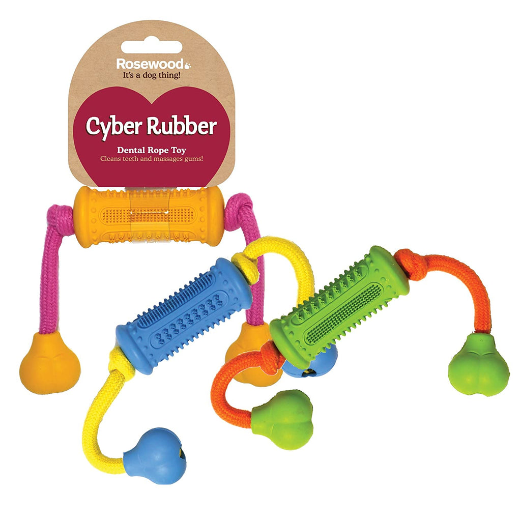 Rosewood Cyber Rubber Dental Rope Toy