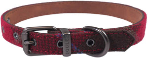 Joules Heritage Tweed Leather Dog Collar