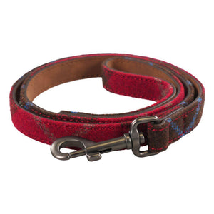 Joules Red Tweed Dog Lead