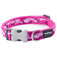 Red Dingo Camouflage Dog Collar, Large, Hot Pink, 41-64cm x 25mm