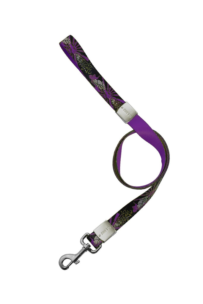 ENVY Sengoku Designer Luxury Dog Lead Purple