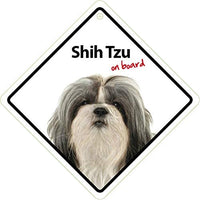 Shih Tzu Dog On Board Car Window Sign