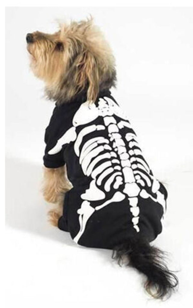 "Ancol Small Bite Halloween Skull Suit Fancy Dress Costume For Dogs 10"" / 25cm"