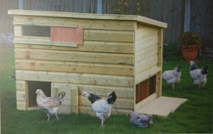 Helmes The Manor House - 6-8 Bird Chicken Hen House Coop